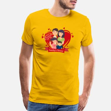 Styles Happy Parents Day -Red Heart- Best Selling Design - Men's Premium T-Shirt