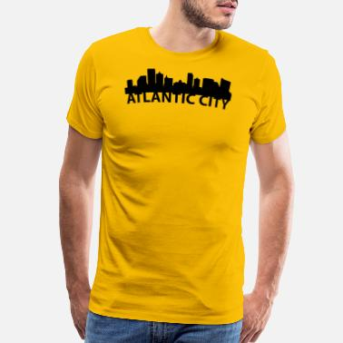 Atlantic City Nj Arc Skyline Of Atlantic City NJ - Men's Premium T-Shirt