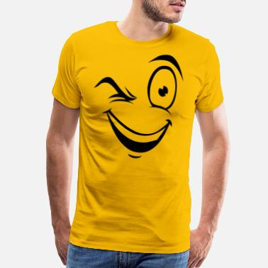 Naughty Smiley naughty smiley humour smile wink - Men's Premium T-Shirt