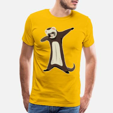 Ferret Dabbing Funny Pet Ferret - Men's Premium T-Shirt