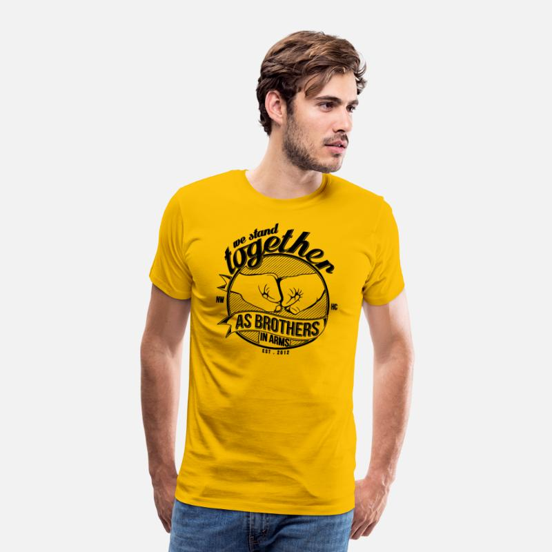 Art T-Shirts - We stand together - Men's Premium T-Shirt sun yellow