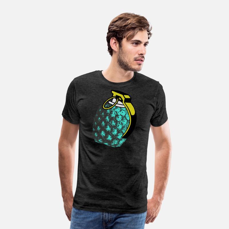 Pineapple grenade pop art contrast nade Men's Premium T-Shirt - charcoal  gray