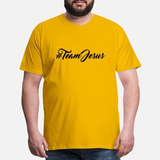 6952fdb0da19 Hashtag team crew friends jesus christ cool logo d Men's Premium T ...