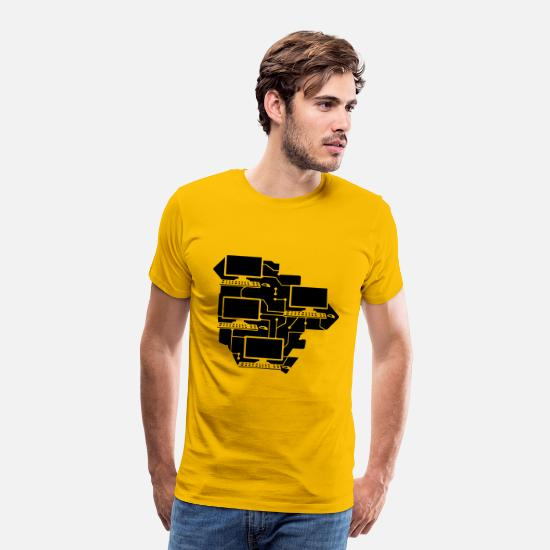 Computer T-Shirts - cool lanparty networked gamer gamble connected pat - Men's Premium T-Shirt sun yellow