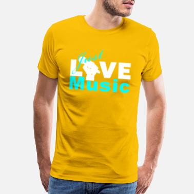 Live Hard Just Live Music - Men's Premium T-Shirt