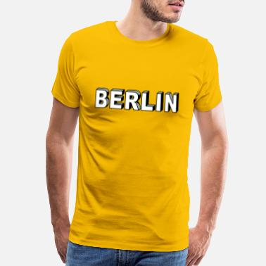 Bold BERLIN Block Letters - Men's Premium T-Shirt