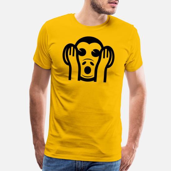 3 Wise Monkeys Kikazaru 聞かざる Hear NO Evil Emoji Men's