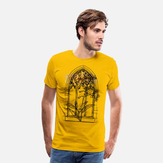 Seed T-Shirts - Forgetmenots - Men's Premium T-Shirt sun yellow