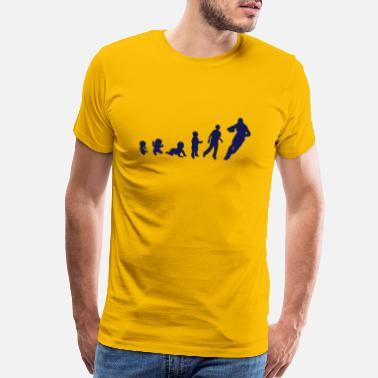 e4255c4a american football evolution man human spor - Men's Premium T-Shirt