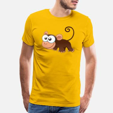 Monkey Vector monkey animal wildlife vector illustration cartoon - Men's Premium T-Shirt