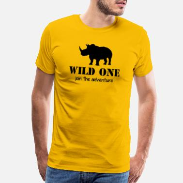 Bobcat Wild One - join the adventure - Rhino - Elephant - Men's Premium T-Shirt