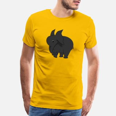 Snout elephant animal pet proboscis snout circus - Men's Premium T-Shirt