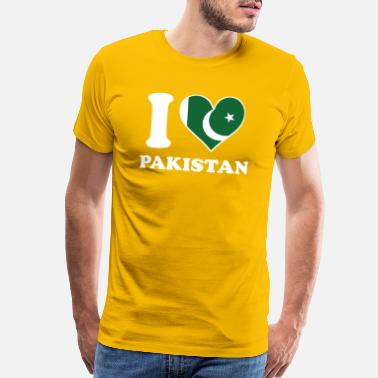 Pakistani I Love Pakistan Pakistani Flag Heart - Men's Premium T-Shirt