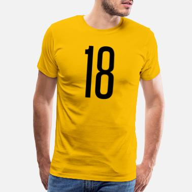 Numbered Tall number18 - Men's Premium T-Shirt