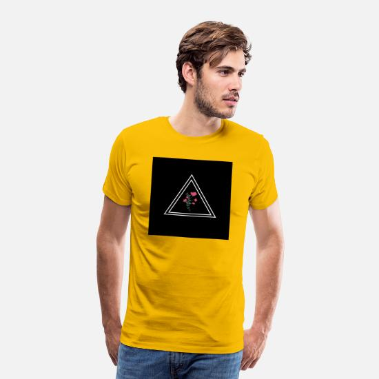 Love T-Shirts - Flowers in a triangle - Men's Premium T-Shirt sun yellow