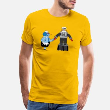 Robinson Rosie and Lost in Space Robot - Men's Premium T-Shirt