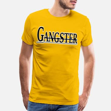 Gang Criminal Gangster lettering in black and white design gift - Men's Premium T-Shirt