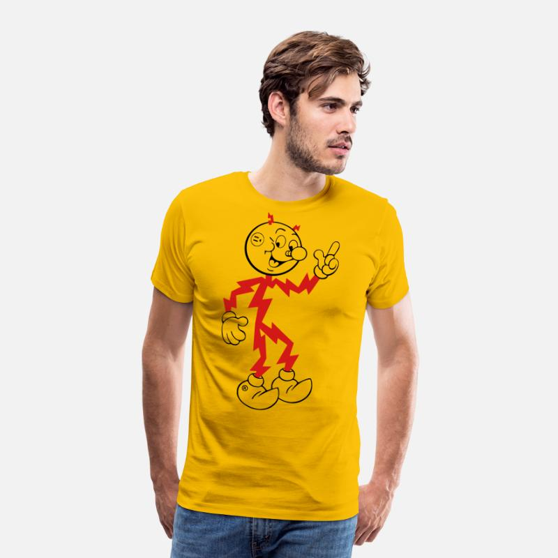 Kilowatt T-Shirts - Reddy Kilowatt - Men's Premium T-Shirt sun yellow