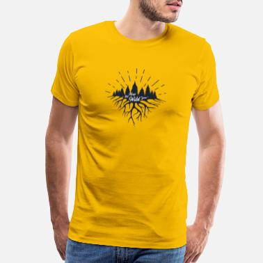 Trail Running Keep the Wild in You T-shirts and Products - Men's Premium T-Shirt