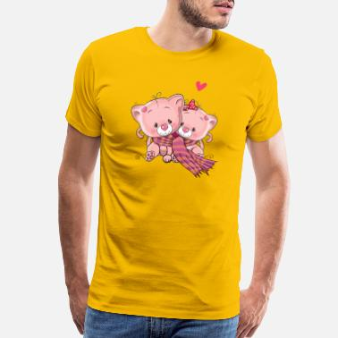 87289e6a0 Valentine Cat Cats-love-valentines-day - Men's Premium T-Shirt