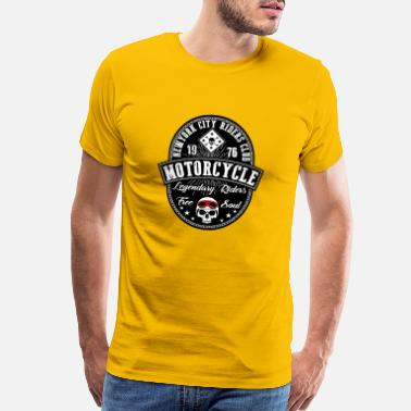 Riders Motorcycle riders club New York vector cool image - Men's Premium T-Shirt
