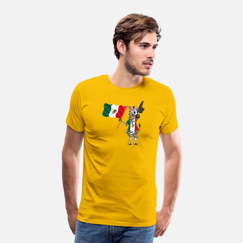 Mexican T-Shirts - A Mexican Zebra - Men's Premium T-Shirt sun yellow