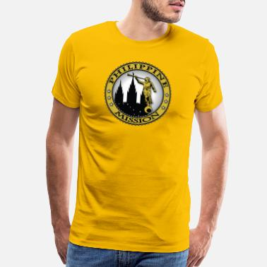 Flag Of Philippines Philippine Mission - LDS Mission Classic Seal Gold - Men's Premium T-Shirt