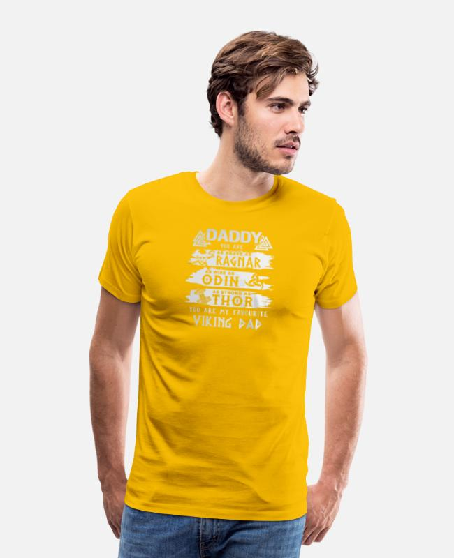 Thor T-Shirts - Daddy You Are As Strong As Thor - Men's Premium T-Shirt sun yellow