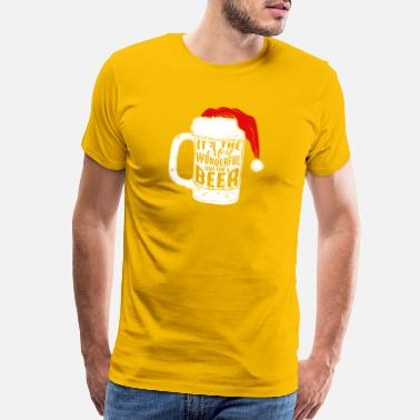 Santa Claus It s the Most Wonderful Time For a Beer - Men's Premium T-Shirt