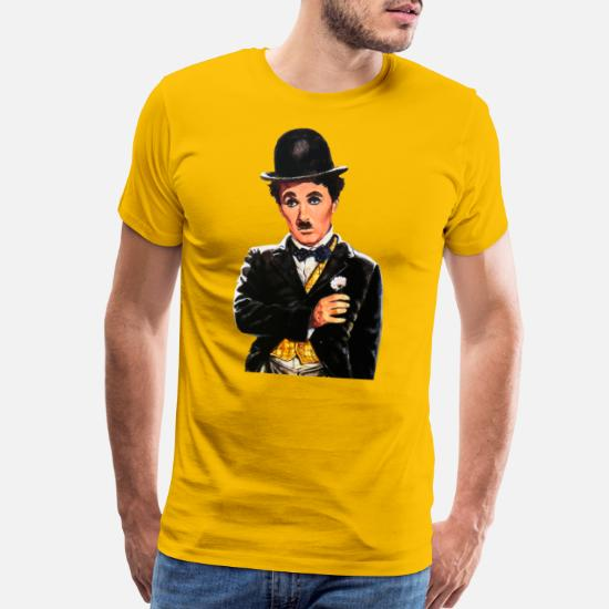 T-shirt Charlie Chaplin Vintage drawing Retro Affiches