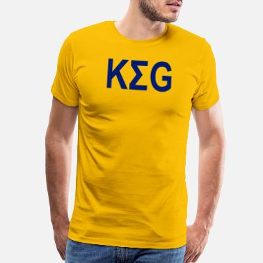 Beer Keg KEG GREEK SHIRT - Men's Premium T-Shirt