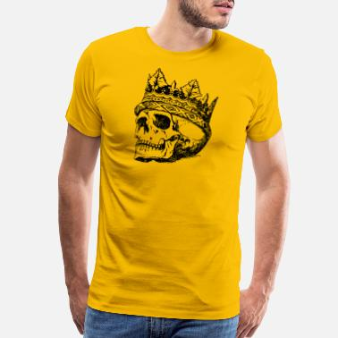 Hipster Skull King Black - Men's Premium T-Shirt