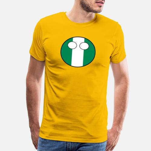 Countryball Laenderball Land Heimat Nigeria Men s Premium T-Shirt ... c6d8fbbb7