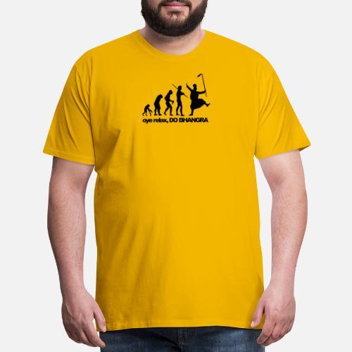 1348d66735c2b2 Bhangra Evolution - Men s Premium T-Shirt. Back. Back. Design. Front. Front