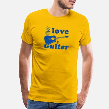 Eguitar i love guitar - Men's Premium T-Shirt