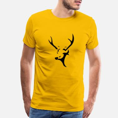 Deer deer head - Men's Premium T-Shirt