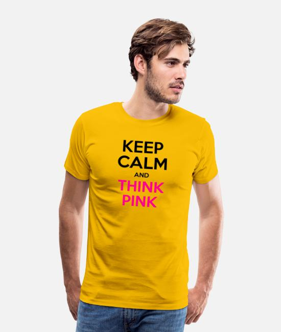 Breast Cancer Month T-Shirts - Breast Cancer Awareness - Men's Premium T-Shirt sun yellow