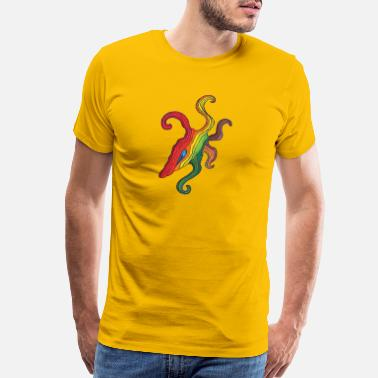 Cell Tribal-Psychedelic Octopus - Art Illustration 36 - Men's Premium T-Shirt