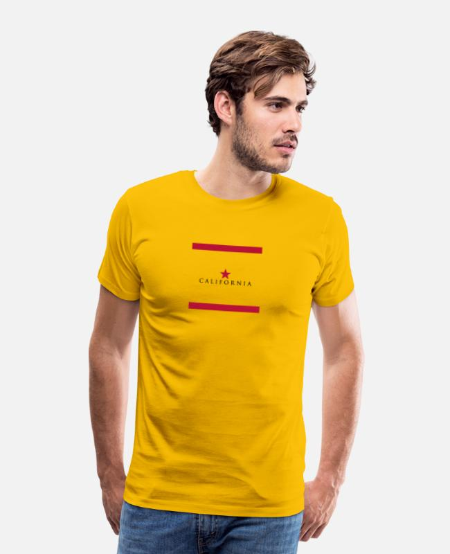 Design T-Shirts - California Trend Design - Men's Premium T-Shirt sun yellow