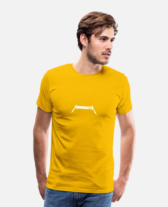 Mn Mn Home T-Shirts - MInnesota - Men's Premium T-Shirt sun yellow