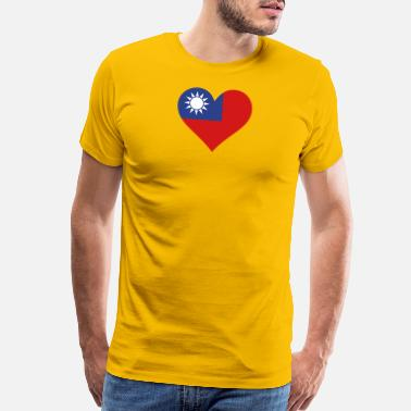 Mahjong A Heart For Taiwan - Men's Premium T-Shirt