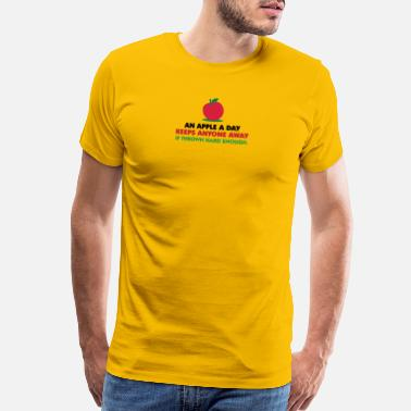 Idioms An Apple A Day Keeps Everyone Away! - Men's Premium T-Shirt