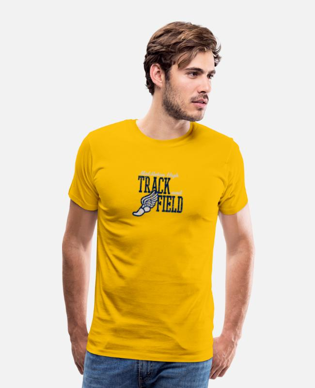 Field T-Shirts - Middleton High Track And Field - Men's Premium T-Shirt sun yellow