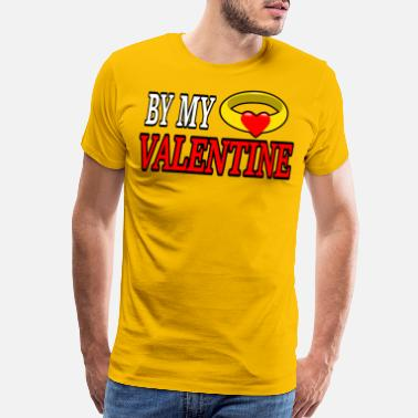 Heart Of Stone Be my valentine gold ring with heart stone - Men's Premium T-Shirt