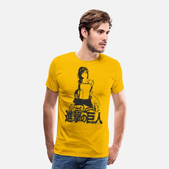 Attack T-Shirts - girl attack - Men's Premium T-Shirt sun yellow