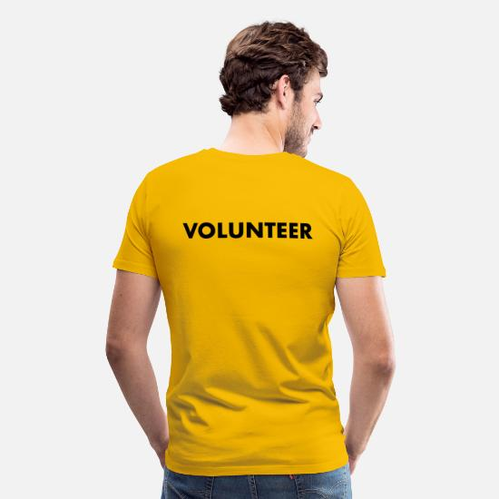 Yellow T-Shirts - VOLUNTEER - Men's Premium T-Shirt sun yellow