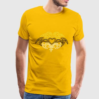Heart Tribal Design - Men's Premium T-Shirt