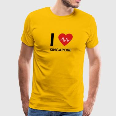 I Love Singapore - Men's Premium T-Shirt