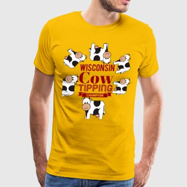 Wisconsin Cow Tipping Champion - Men's Premium T-Shirt
