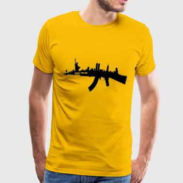 NY AK Skyline - Men's Premium T-Shirt
